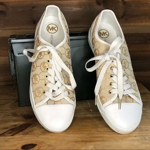Michael Kors Monogrammed Tennis Shoes